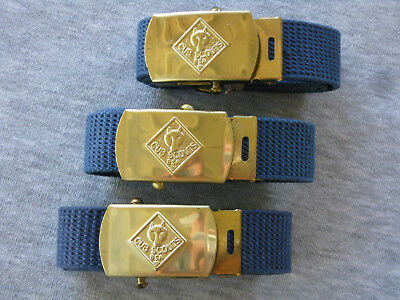 BSA BOY SCOUT WOLF CUB SCOUT BELT and BUCKLE Lot of 3