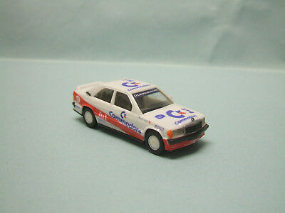 Herpa - MERCEDES BENZ MB 190 E Racing Commodore blanche Voiture HO 1/87