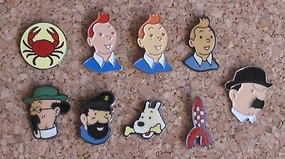 Lot 9 pin's Tintin et ses compagnons