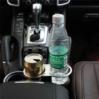Universal Auto Double  Dual Drink Cup Holder Black Between Seat Stand N7