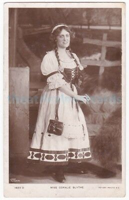Stage actress Coralie Blythe in costume. Rotary postcard