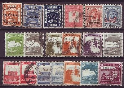 BRITISH PALESTINE  - Early used selection (F767)