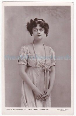 Stage actress Irene Vanbrugh in The Great Conspiracy. Rotary postcard