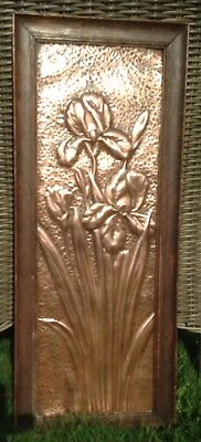 Arts And Crafts Framed Copper Plaque-Stunning!