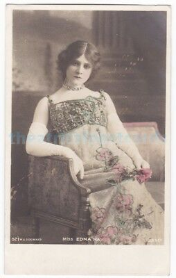 Stage actress Edna May in costume. Beagles postcard