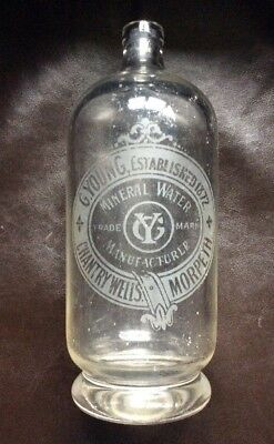 G. Young, Chantry Wells, Morpeth,  Large Size Soda Syphon.
