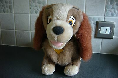 Vintage - Disney Lady & the Tramp - Large Lady soft toy - clean