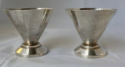 Pair of White Metal Goblets