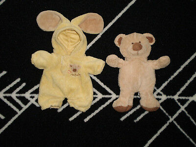 "7"" Small 2004 Ty Love to Baby Bear Yellow Bunny Removable Pajamas Pluffies"