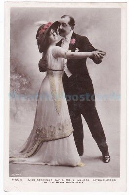Stage actress Gabrielle Ray and George Mahrer in The Merry Widow Dance