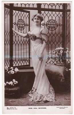 Stage actress Nina Sevening in costume. Misch & Co. postcard