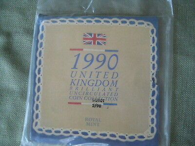UK 1990 Brilliant Uncirculated Coin Collection in presentation folder