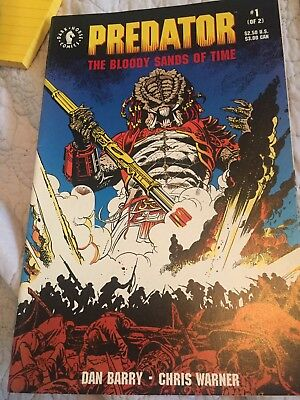 Dark Horse Predator The Bloody Sands Of Time limited series both comics
