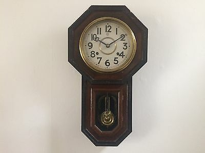 ANTIQUE JAPANESE WALL CLOCK c1900