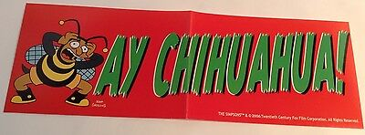 The Simpsons - Bumper Sticker -- Ay Chihuahua -- Autocollant  Des Simpsons