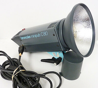 Broncolor Minipuls C80 Monolight - With Reflector and Power Cord - Excellent