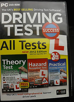 DRIVING TEST SUCCESS All Tests 2012 Edition PC DVD-Rom Theory, Hazard, Practical