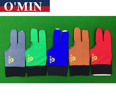 O'min Quality Snooker Pool Glove Breathable Gray/Green/Blue/Orange /Red Colors