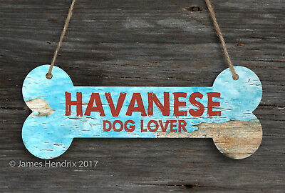 Havanese  Aluminum Dog Bone Sign