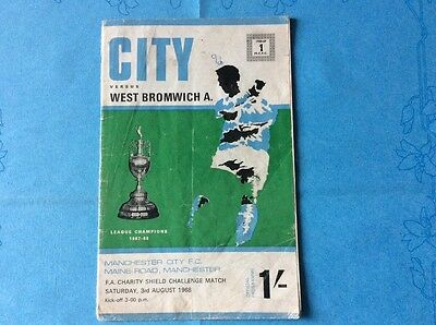 FA CHARITY SHIELD PROGRAMME 1968: Man City v West Brom