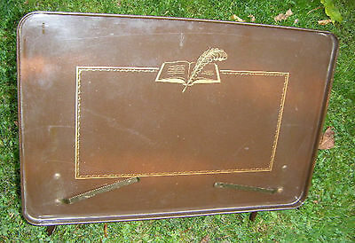 Art Deco Folding Metal Library Music Stand, Lectern, Recipe Holder