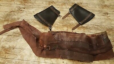 Black sails Charles vane Replica scrap leather belt and vambraces Starz prop