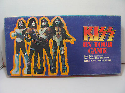Vintage 1978 Kiss On Tour Board Game