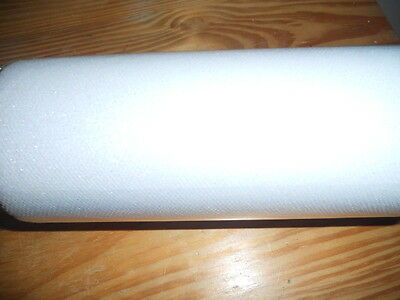 """ONE White TUILLE  Sparkle Glitter fabric roll  ( 6"""" 25Yds)"""