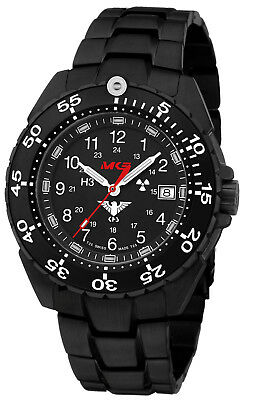 KHS Tactical Watch German Military H3 Watch Ceramic Bezel Steel KHS.ENFBS.SSEB