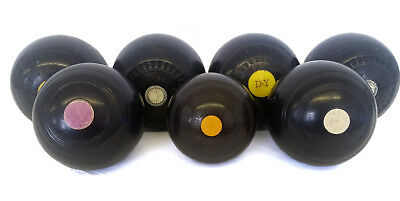 Mixed Joblot of 7 Vintage & Antique Bowl Balls inc Thomas Taylor, Drake Pride