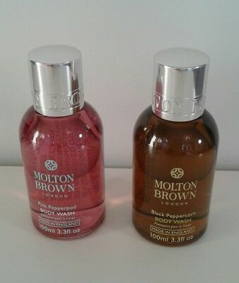 Molton Brown Pink Pepperpod and Black Peppercorn Bodywash 100 mls each
