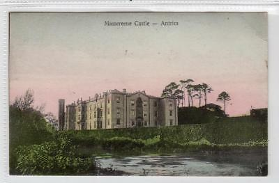 MASSEREENE CASTLE: Co Antrim Northern Ireland postcard (C31738)
