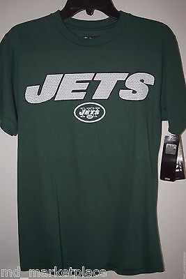 NWT NFL New York NY JETS Tebow #15 Womens Green Knit Cotton Shirt Top S NEW