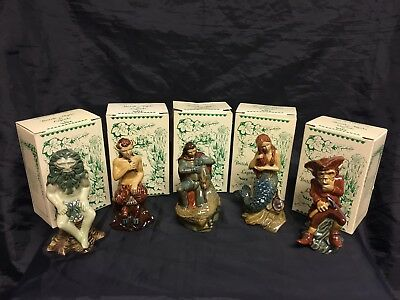 Set of 5 Boxed Wade British Myths & Legends Figurines