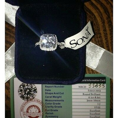 nscd sona 3ct diamond ring engagement proposal bridal lab PT950 wedding all size
