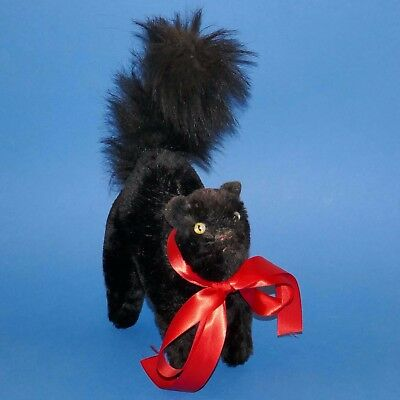 Lovely Alpha Farnell Halloween black cat with label 1930s