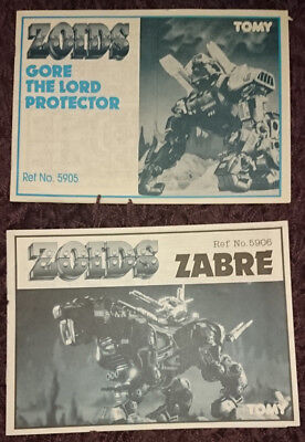 ZOIDS - Instructions (80's) - Zabre and Gore