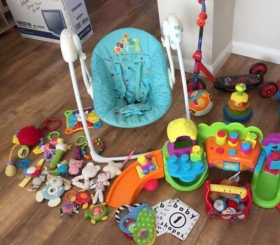 Quality Carboot joblot bundle- toys mainly, scooter, baby swing
