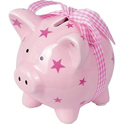 Money Box pig pink Baby Charms