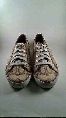 COACH Womens Tennis Shoes Size 10M  khaki