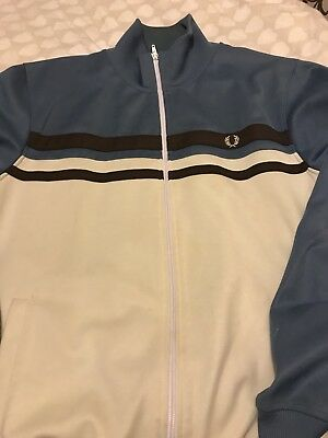 fred perry track top - size L