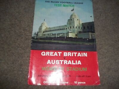 Great Britain V Australia Rugby League Ashes Test Match @ Wembley 3Rd Nov 1973