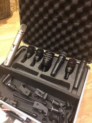 Audix DP5A Drum Mic Set (D6, D4, D2, i5)  with Clips and SM57 and C1000S in case