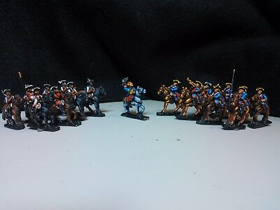 15mm painted Seven Years' War French cavalry regiments