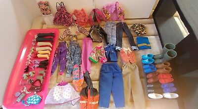 Ken and Barbie lot of clothes and shoes +accessories