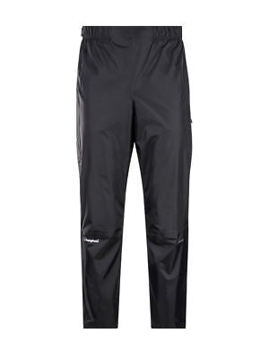 Berghaus Men's Deluge Waterproof Overtrousers - NEW - Black - Size M Long - £60