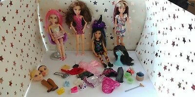 Liv dolls lot of four fully dressed w/ extra clothes and shoes + accessories
