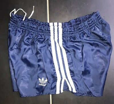 Adidas Nylon Glanz Sprinter Shorts Football Gym Swim Running Vintage Pe Sexy