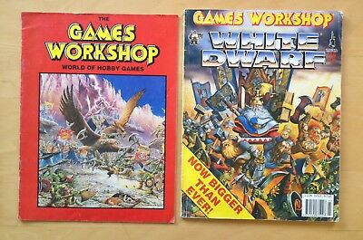 Games Workshop White Dwarf Magazine 159 1993 + Catalogue '93 Fantasy Hobby