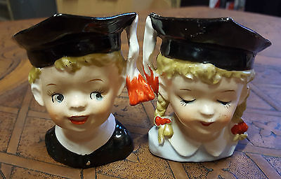 """Vintage Rare """"scholars"""" Salt & Pepper Set, Part Of 60 Years Collections"""
